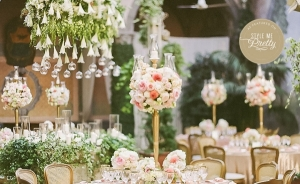 A gorgeous gold and blush luxury destination wedding in Rome