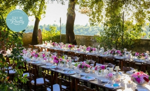 Colourful Tuscany Garden Wedding - Style Me Pretty 2013